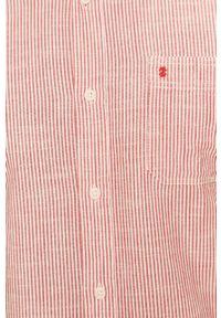 Czerwona koszula Izod casualowa, z włoskim kołnierzykiem, długa, na co dzień