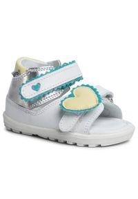 Białe sandały Bartek z aplikacjami, casualowe