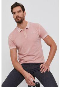 Pepe Jeans - Polo bawełniane Vincent. Typ kołnierza: polo. Kolor: różowy. Materiał: bawełna. Długość: krótkie. Wzór: gładki