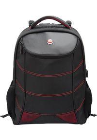 """Plecak BESTLIFE PLECAK NA 17"""" NOTEBOOK SNAKE EYE GAMING USB CZERWONY BB-3332R. Kolor: czerwony"""