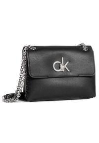 Czarna torebka klasyczna Calvin Klein skórzana, klasyczna