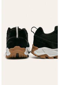 Czarne sneakersy columbia na sznurówki, z cholewką