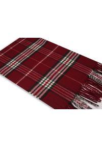 Czerwony szalik V. Fraas w kratkę, na zimę