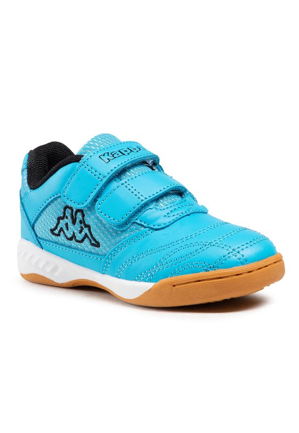 Kappa - Sneakersy KAPPA - Kickoff K 260509K Azur/Black 6211. Zapięcie: rzepy. Kolor: niebieski. Materiał: skóra ekologiczna, materiał. Szerokość cholewki: normalna