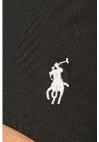 Czarny strój kąpielowy Polo Ralph Lauren gładki
