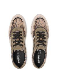 Geox - Sneakersy GEOX - D Tabelya D02AQA 0072 C3228 Olive/Beige. Okazja: na co dzień. Kolor: brązowy. Materiał: skóra, nubuk, zamsz. Sezon: lato. Styl: elegancki, sportowy, casual