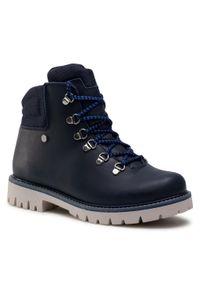 Niebieskie buty zimowe Bartek z aplikacjami, na spacer