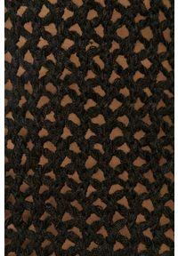 Czarny sweter AllSaints długi, casualowy, z długim rękawem, na co dzień