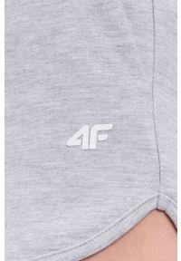 4f - 4F - Szorty. Okazja: na co dzień. Kolor: szary. Styl: casual