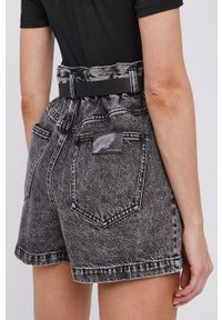 Miss Sixty - Szorty. Okazja: na co dzień. Stan: podwyższony. Kolor: szary. Materiał: jeans, denim, bawełna. Wzór: gładki. Styl: klasyczny, casual #2