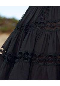 CHARO RUIZ IBIZA - Spódnica mini Greta. Kolor: czarny. Materiał: koronka, bawełna. Wzór: aplikacja, koronka