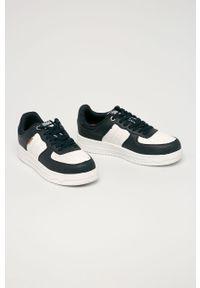 Niebieskie sneakersy Jack & Jones z cholewką, z okrągłym noskiem, na sznurówki