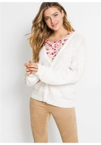 Biały sweter bonprix krótki