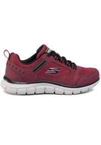 Czerwone buty treningowe skechers z cholewką