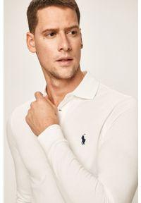 Biała koszulka z długim rękawem Polo Ralph Lauren polo, krótka