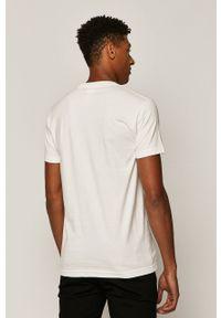 Biały t-shirt medicine z nadrukiem, casualowy, na co dzień