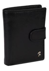ROVICKY - Klasyczny portfel męski czarny Rovicky 326L-CVT BLACK. Kolor: czarny. Materiał: skóra