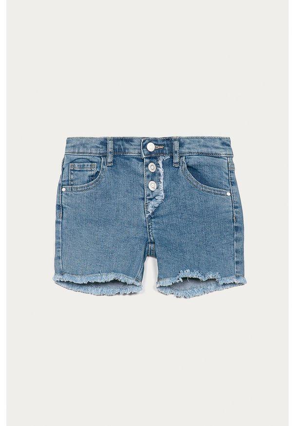 Niebieskie spodenki Guess Jeans na co dzień, casualowe