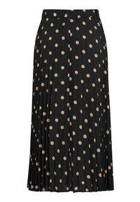Freequent Plisowana spódnica Duta Czarny Sand female czarny/beżowy/żółty M (40). Kolor: wielokolorowy, beżowy, żółty, czarny. Materiał: tkanina, guma. Wzór: kropki