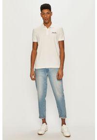 Biała koszulka polo Jack & Jones na co dzień, krótka, gładkie, casualowa