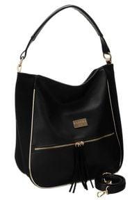 Shopper damski czarny Badura T_D163CZ_CD. Kolor: czarny. Materiał: skórzane. Rodzaj torebki: na ramię
