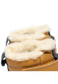 Żółte buty zimowe Bartek z cholewką
