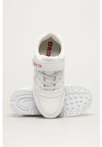 Białe buty sportowe Big-Star z okrągłym noskiem, z cholewką