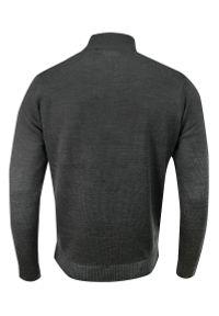 Szary sweter Brave Soul na zimę, z kołnierzem typu troyer, elegancki
