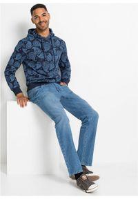 Niebieska bluza bonprix z kapturem, paisley