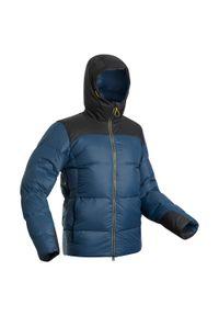 FORCLAZ - Kurtka trekkingowa męska puchowa komfort -18°C Forclaz Trek 900. Materiał: puch