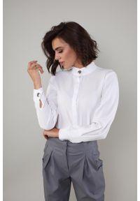 Koszula Nommo elegancka, w kwiaty, ze stójką