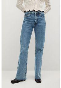 Niebieskie jeansy loose fit mango