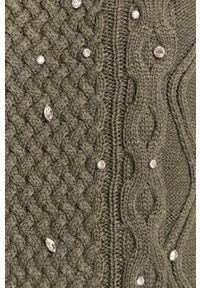 TALLY WEIJL - Tally Weijl - Sweter. Kolor: szary. Długość rękawa: długi rękaw. Długość: długie