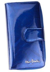 Portfel damski Pierre Cardin 02 LEAF 116 NIEBIESKI. Kolor: niebieski. Materiał: skóra. Wzór: aplikacja