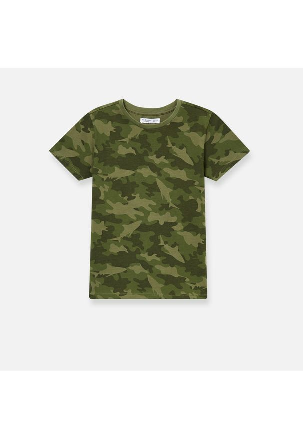 Brązowy t-shirt Sinsay moro