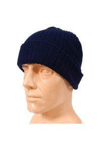 Niebieska czapka Pako Jeans klasyczna, na zimę