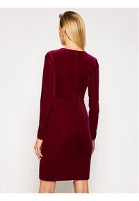 Czerwona sukienka koktajlowa DKNY wizytowa