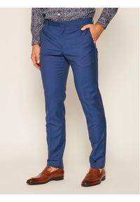 TOMMY HILFIGER - Tommy Hilfiger Tailored Spodnie garniturowe Fks Separate TT0TT07511 Granatowy Slim Fit. Kolor: niebieski