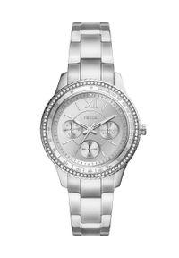 Fossil - Zegarek ES5108. Kolor: srebrny. Materiał: materiał