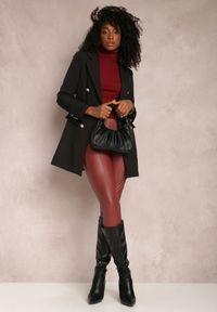 Renee - Czarna Marynarka Parthopis. Okazja: na spotkanie biznesowe. Kolor: czarny. Materiał: tkanina. Długość: długie. Styl: wizytowy, klasyczny, biznesowy #3