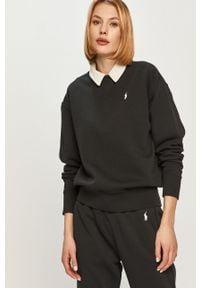 Czarna bluza Polo Ralph Lauren casualowa, gładkie