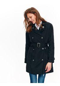 Czarny płaszcz TOP SECRET w kolorowe wzory, krótki