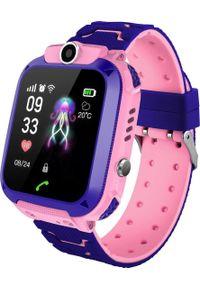 Smartwatch Q12 Q12 Fioletowy (Q12 waterproof pink). Rodzaj zegarka: smartwatch. Kolor: fioletowy