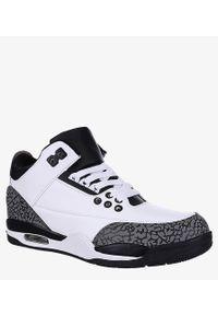 Casu - Białe buty sportowe sznurowane casu 201c/wg5. Kolor: biały, wielokolorowy, szary