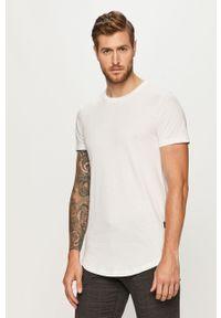 Biały t-shirt Tom Tailor Denim casualowy, na co dzień, z okrągłym kołnierzem