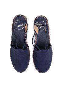 Niebieskie sandały Toni Pons na obcasie, na średnim obcasie