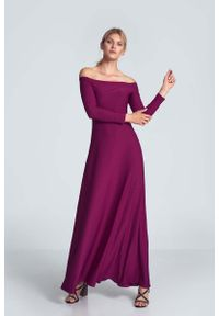 Różowa sukienka wizytowa Figl maxi