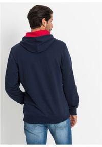 Niebieska bluza bonprix z kapturem