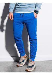 Niebieskie spodnie Ombre Clothing klasyczne