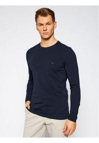 Niebieska koszulka z długim rękawem TOMMY HILFIGER